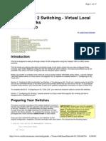 CCNA Layer 2 Switching - VLANs Lab Scenario