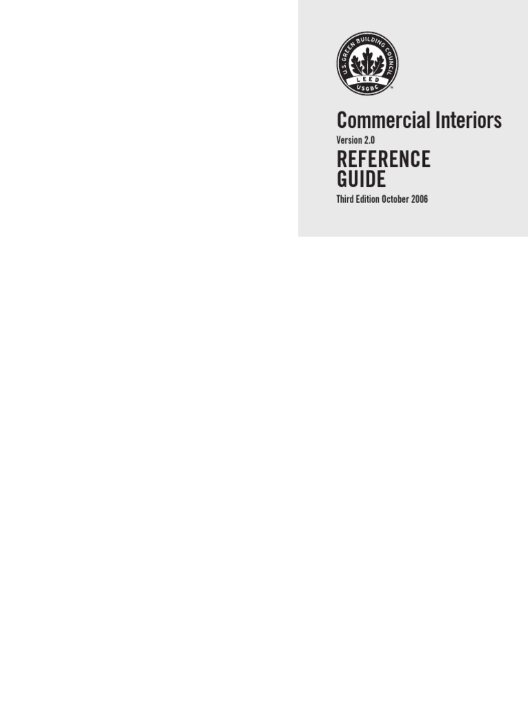 Leed Commercial Interiors Reference Guide Leadership In Energy And Snap Circuitsr Electromagnetism Storespacecom Environmental Design Green Building
