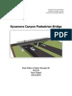 reinforced concrete design of pedestrian bridge