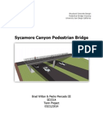 reinforced concrete design of pedestrian bridge