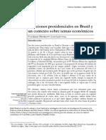 Elecciones presidenciales en Brasil y un contexto sobre temas económicos
