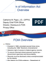 DHS PowerPoint Presentation on FOIA
