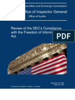 SEC OIG - Review of SEC Compliance with FOIA (Sept. 25, 2009)