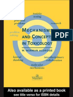 Mechanisms and Concepts in Toxicology - Aldridge