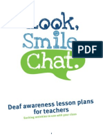Deaf Awareness Lesson Plans