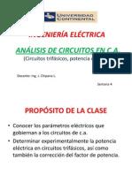 Circutos Trifásico en c.a. Semana 4 UC 2014 - I