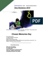 Military Resistance 12E10 Chosen Memories Day