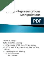 Strings Representations