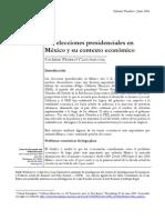 Las elecciones presidenciales in México y su contexto económico