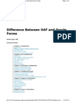3Difference Between OAF and Oracle Forms