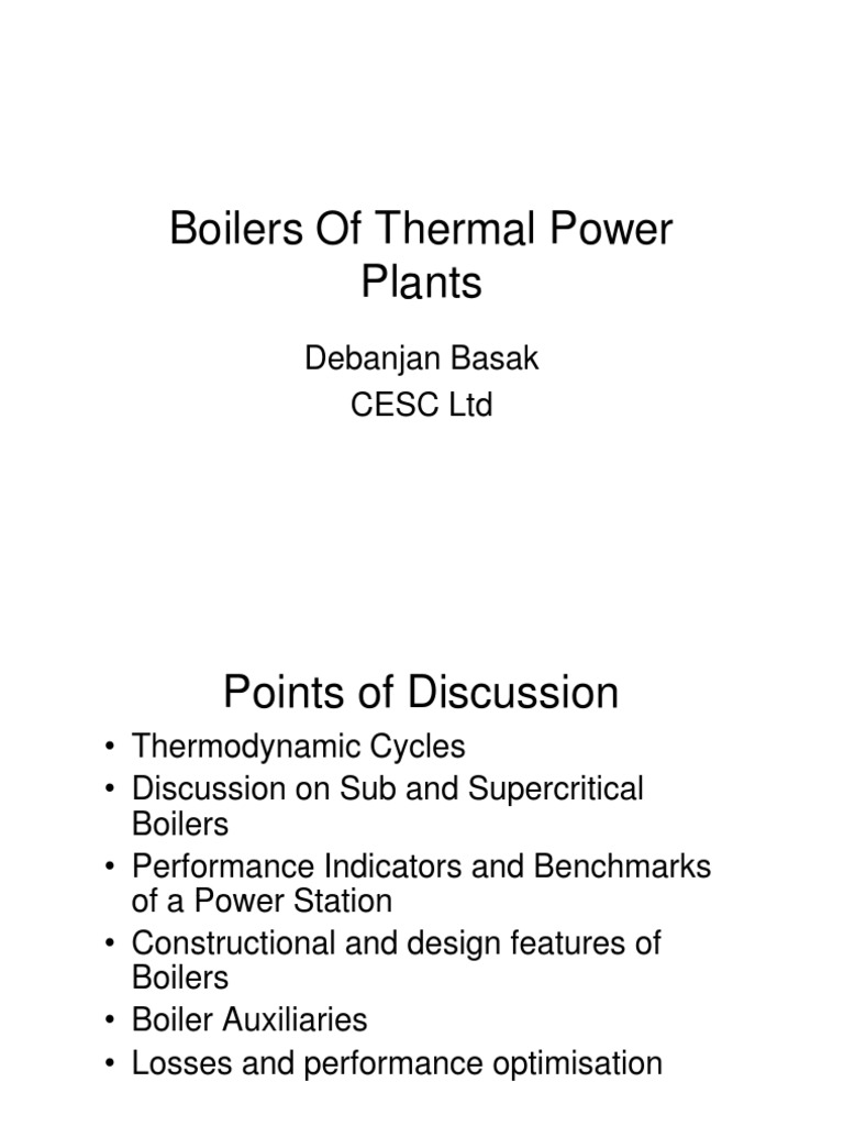 Boilers of Thermal Power Plants | Entropy | Boiler