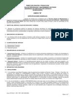 Anexo B Especificaciones Generales 2007 2008 2009