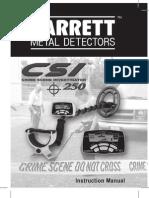 Garrett CSI 250 Manual