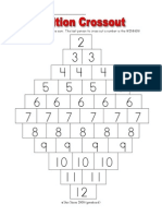 dice game- cross out addition