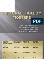 Sulfonas, Tioles y Tioéters