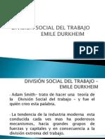 División Social Del Trabajo