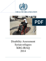 Disability Assessment_WHO April 2014