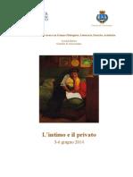Scuola Estiva. Lintimo e Il Privato. 3-6 Giugno 2014. Coversano