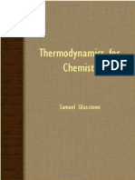 Thermodynamics for Chemists, Glasstone