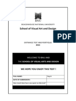 SVAD Admissions Test Booklet