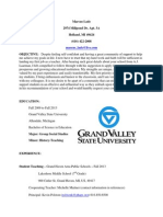 resume - teaching -