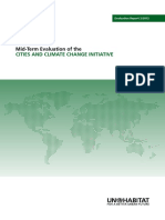 Mid-Term Evaluation of the Cities and Climate Change Initiative