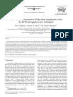 Caracterizacion Molecular de Cutina
