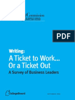 writing- a ticket to work