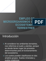 Empleo de Microorganismos en Ecosistemas Terrestres