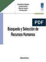 Busqueda y Seleccion de Recursos Humanos