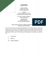 City Council Agenda 06-03-14
