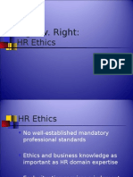 Human Resource Ethics - Power Point Presentation