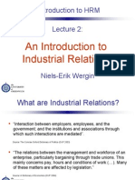 Introduction to Industrial Relation