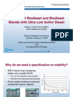 Stability of Biodiesel and Biodiesel