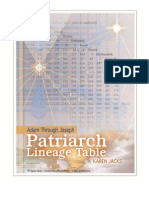 Patriarch Lineage Table Adam Through Joseph