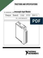 NI-9213 - 16ch Thermocouple - 374916a