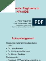 Therapeutic Regimens in HIV