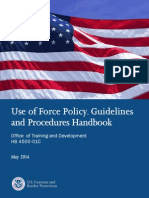 Use of Force Policy Handbook By Border Control Agents