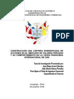Construcci%F3n de Una Cartera Diversificada de Acciones en El Mercado de Valores Peruano y Su Compo