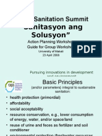Luzon Sanitation Summit Workshop Guidelines