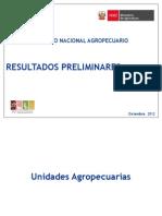 Resultados Preliminares IV Censo Agropecuario