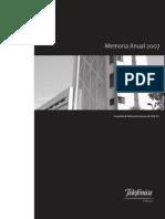 Memoria Anual Espanol 2007