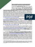 Evaluación Excepcional de Personal Directivo de EB y ETP