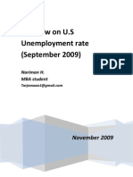 US Unemployment Rate,Sep. 2009