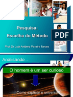 Prof Neves Aula 3 Metodo Cientifico