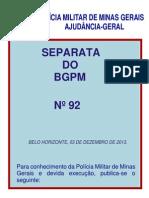 3.03.13 Regula o Policiamento Turistico Da PMMG