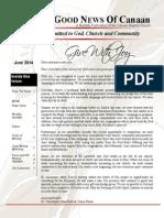 Canaan Baptist Church June 2014 Newsletter
