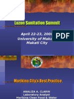 Sanitation Initiatives of Marikina City by Albert Herrera