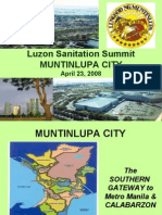Sanitation Initiatives of Muntinlupa City by Jet Pabilonia