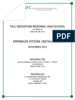 FMRHS Sprinkler System Engineering Design